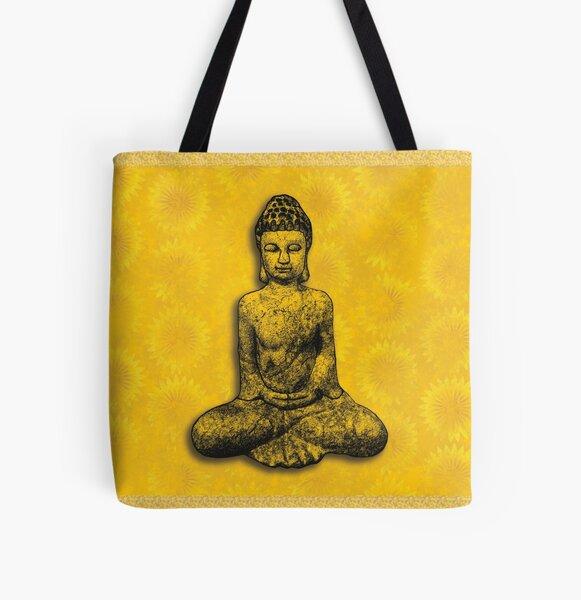 Fire Buddha All Over Print Tote Bag