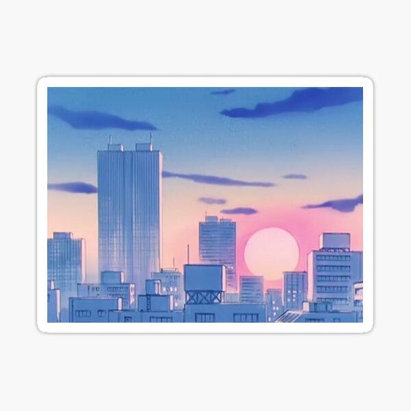 Sailor Moon City Landscape Sticker