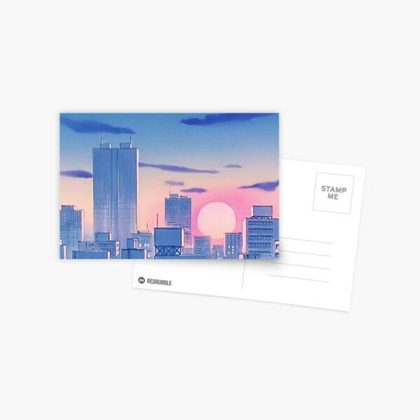 Sailor Moon City Landscape Postcard