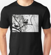 Wood Ducks Black And White Unisex T-Shirt
