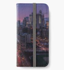 Lower Manhattan at dusk, New York iPhone Wallet/Case/Skin