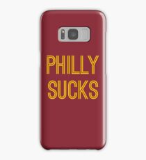 Philly Sucks - Burgundy/Gold Samsung Galaxy Case/Skin