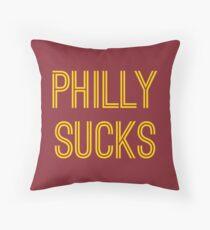 Philly Sucks - Burgundy/Gold Throw Pillow