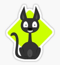 Happy Cartoon Cat VRS2 Sticker