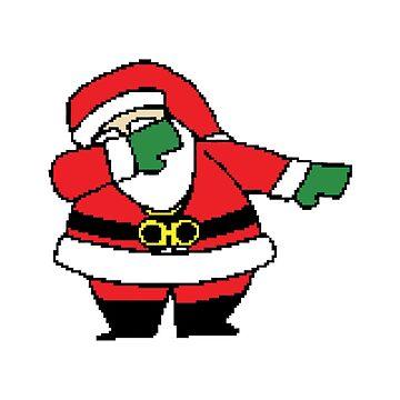 Merry Christmas Dabbing Santa by morethanshirts