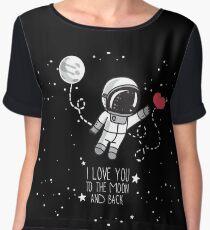 i Love You in The Moon Women's Chiffon Top