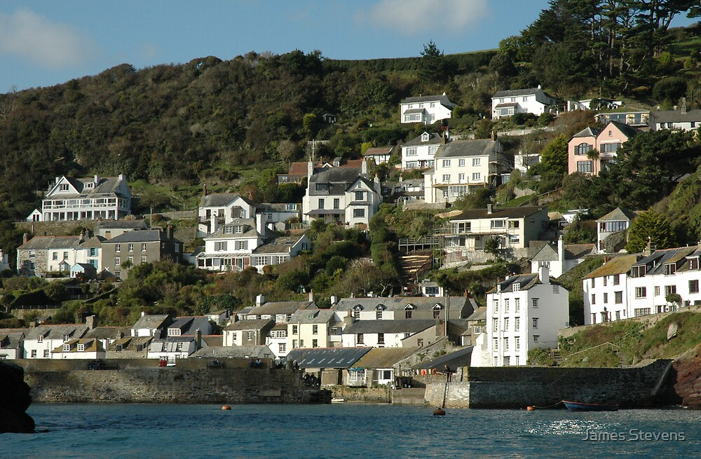 Polperro from the sea. by James Stevens