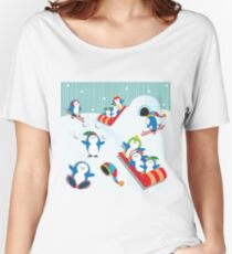 Penguin Fun Women's Relaxed Fit T-Shirt