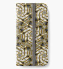 Winter Shades of Gray Pattern T1 iPhone Wallet/Case/Skin