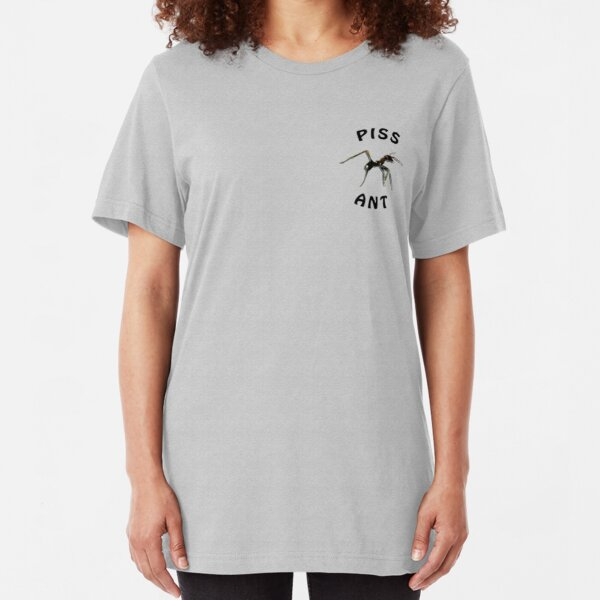 Piss Ant (Small-White) Slim Fit T-Shirt