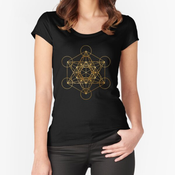 The Sacred Geometry of the Metatron Cube Fitted Scoop T-Shirt