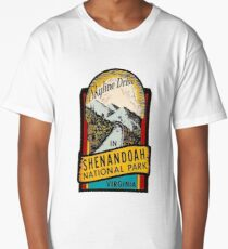 Shenandoah National Park Skyline Drive Vintage Travel Decal  Long T-Shirt