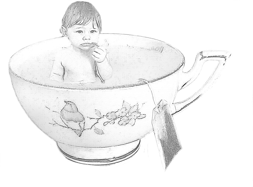 """Teacup Drawing"" by jessica voss 