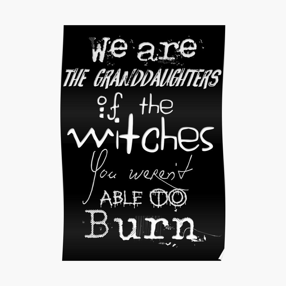 Somos las nietas de las brujas que no pudieron quemar ... Póster