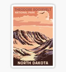 Theodore Roosevelt National Park North Dakota USA Sticker