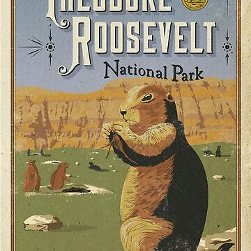 Theodore Roosevelt National Park North Dakota USA Travel Decal Sticker by MeLikeyTees