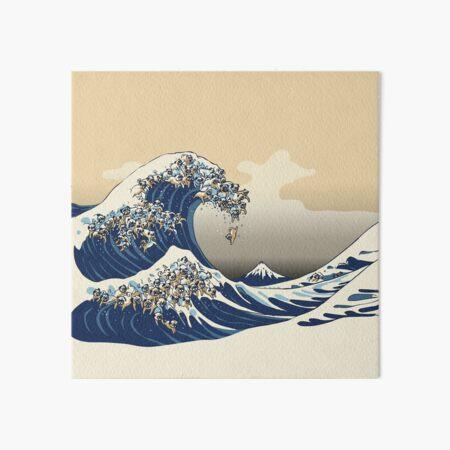 The Great Wave of Pugs Vanilla Sky Art Board Print