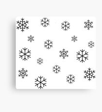 Black Snowflakes Canvas Print