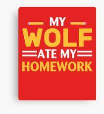 My Wolf Ate My Homework Canvas Print