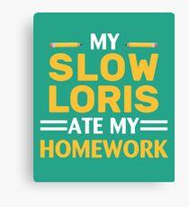 My Slow Loris Ate My Homework Canvas Print