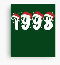 Happy Christmas 1998 - Memorial Christmas 1998 - Xmas Gifts 2018 Canvas Print