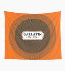Gallatin   Retro Badge Wall Tapestry