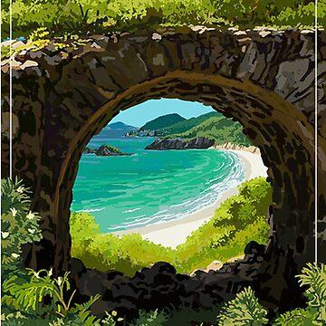 U.S. Virgin Islands National Park Travel Decal by MeLikeyTees