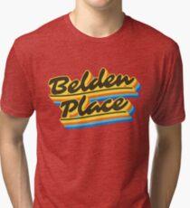 Belden Place | Retro Rainbow Tri-blend T-Shirt