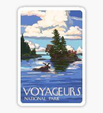 Voyageurs Nationalpark Minnesota, USA Reisen Aufkleber Sticker