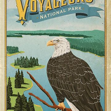 Voyageurs National Park Minnesota USA Travel Decal by MeLikeyTees