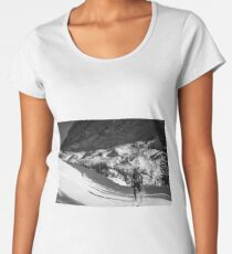 Sunny winter day with the mountains full of snow Women's Premium T-Shirt