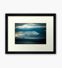 Storm is coming in the gulf of Trieste Framed Print