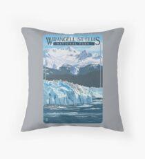 Wrangell - St. Elias National Park and Preserve Alaska USA Travel Decal Throw Pillow
