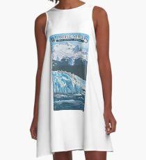 Wrangell - St. Elias National Park and Preserve Alaska USA Travel Decal A-Line Dress