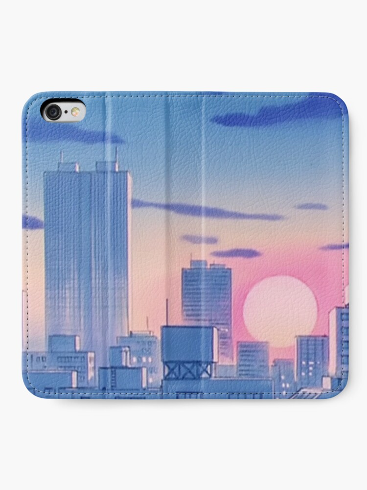 Alternative Ansicht von Sailor Moon City Landschaft iPhone Flip-Case