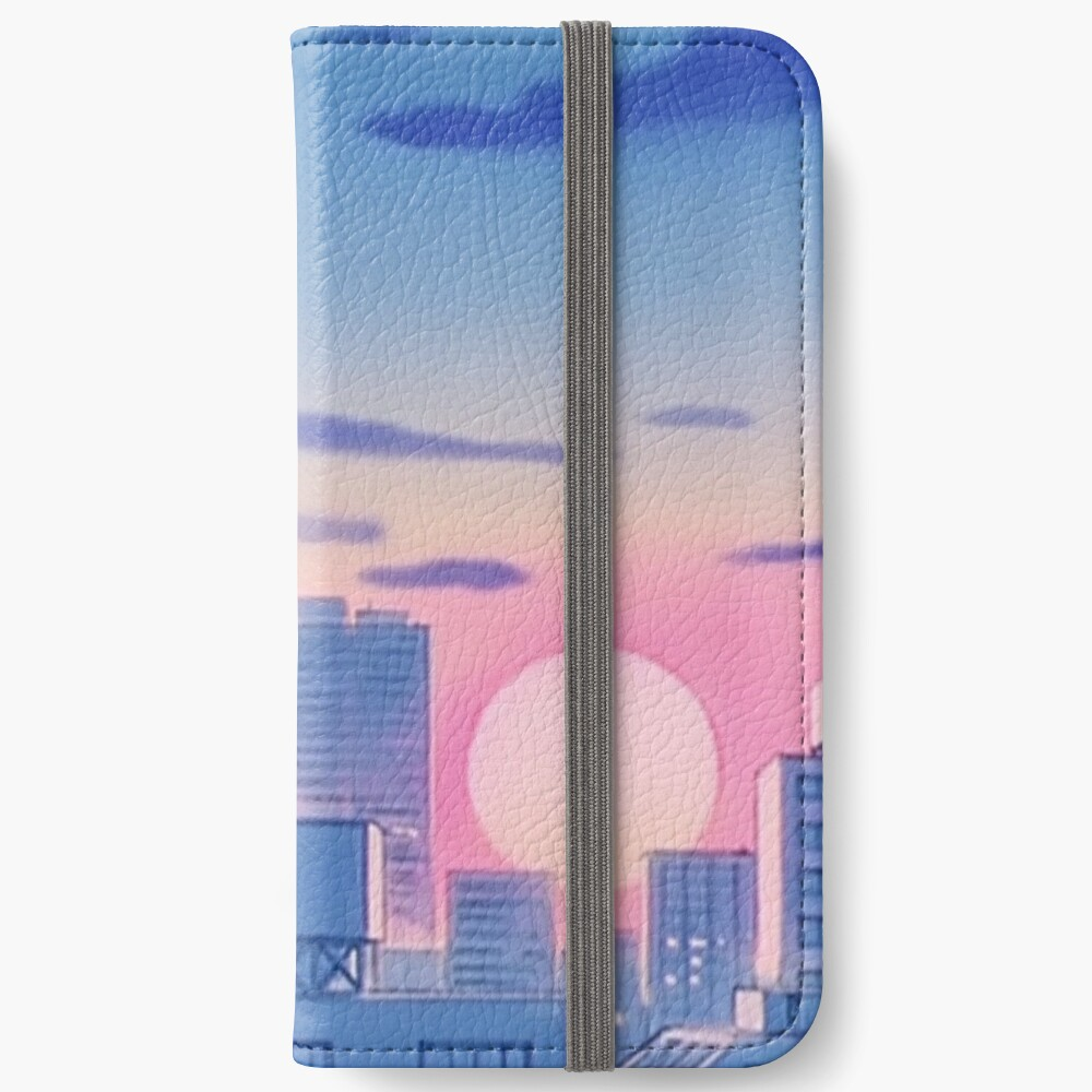 Sailor Moon City Landschaft iPhone Flip-Case