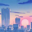 Sailor Moon Stadtlandschaft von Freshfroot