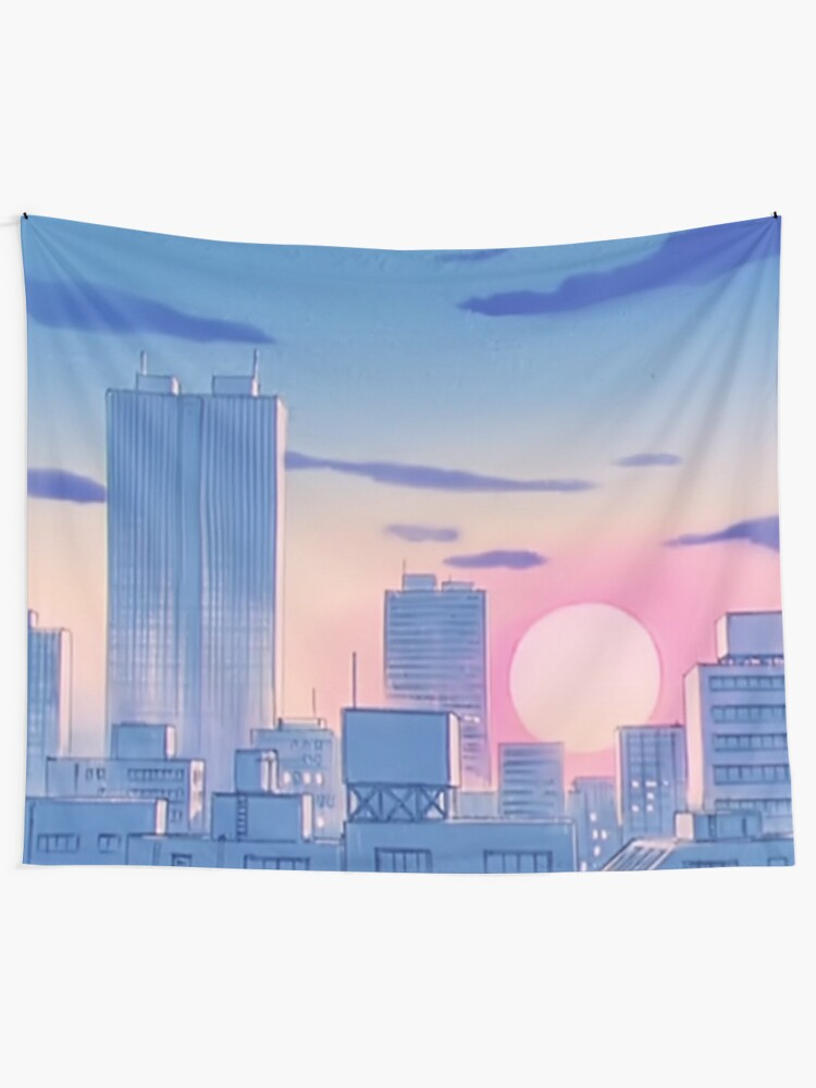 Alternate view of Sailor Moon City Landscape Tapestry