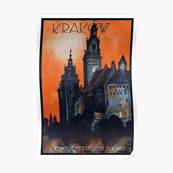 Vintage Krakow Poland Travel Poster Poster