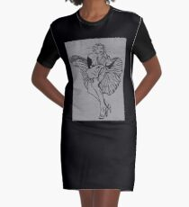 Marlin in Brick Graphic T-Shirt Dress