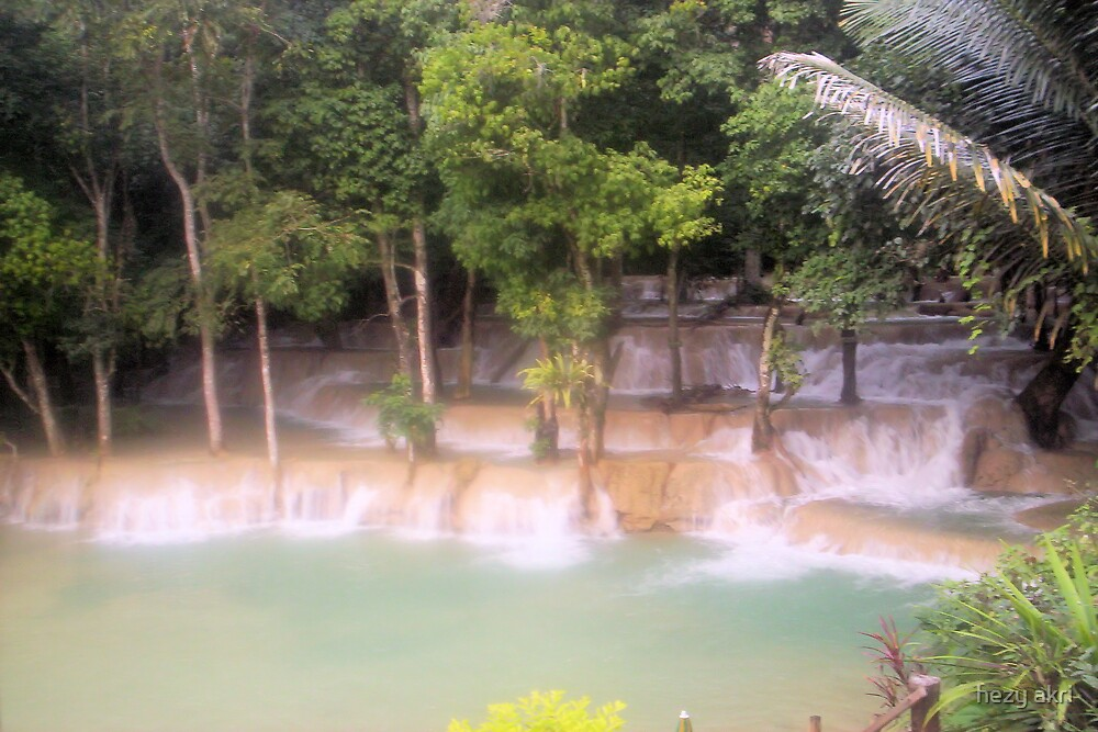 the waterfall in laos by hezy akri