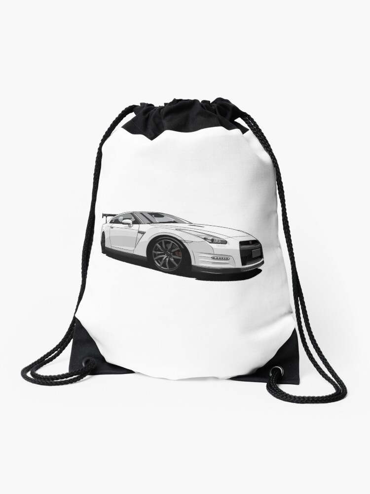 Nissan Gt R R35 Drawstring Bag By Xever