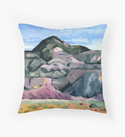 Ghost Ranch mountains Throw Pillow