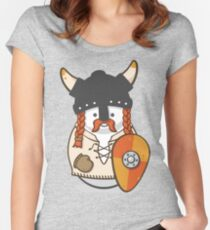 Cute  Viking Disguised Snowmen Women's Fitted Scoop T-Shirt