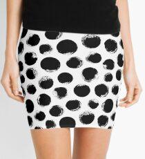 Grunge Polka Dot Mini Skirt