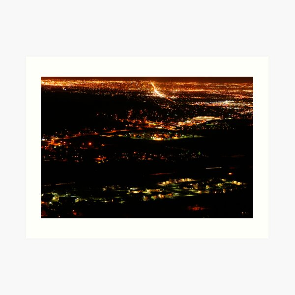 Golden Colorado at Night Art Print