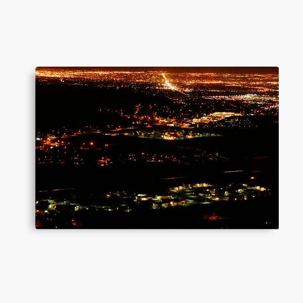 Golden Colorado at Night Canvas Print
