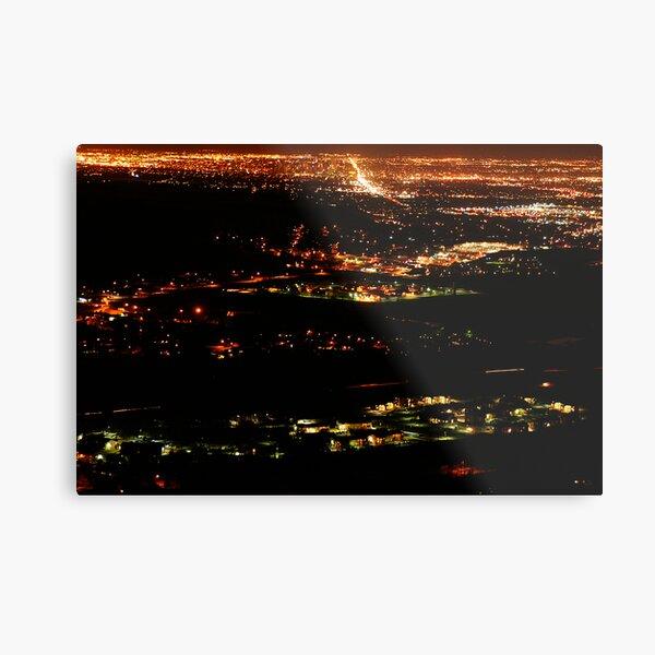 Golden Colorado at Night Metal Print