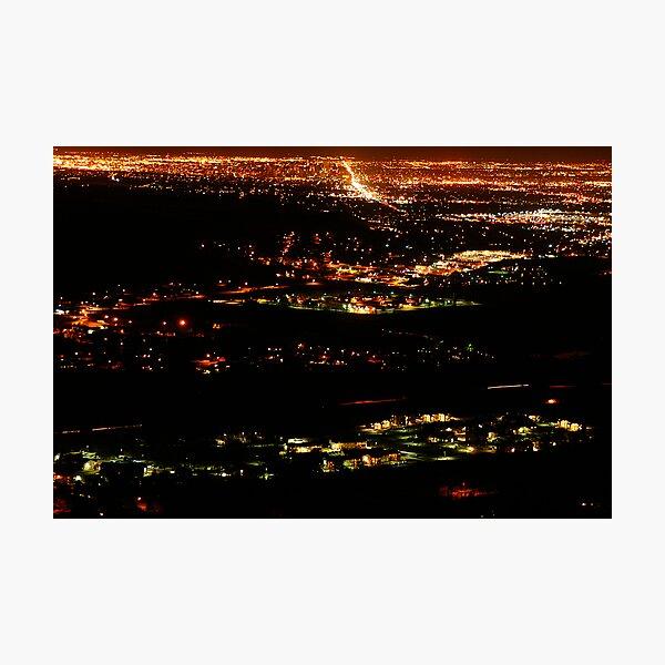 Golden Colorado at Night Photographic Print