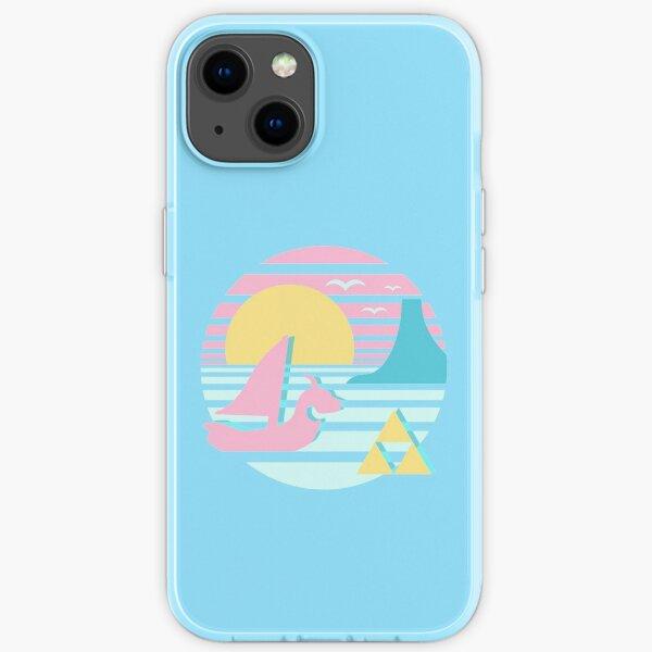 Großer Sonnenuntergang am Meer iPhone Flexible Hülle
